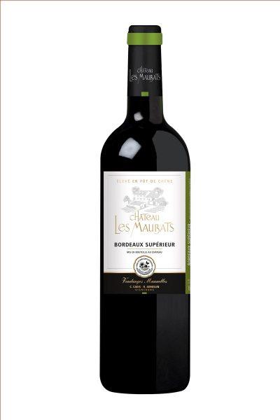 Bouteille vin Bordeaux Supérieur cuvée fut de chêne Château Maubats
