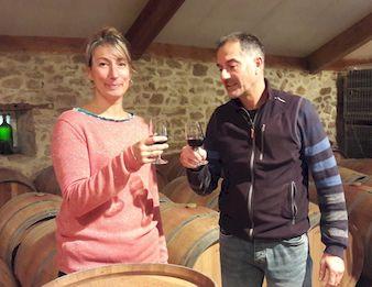 Christophe cadis et Anne Vinot Chateau Les maubats producteur de grands vins de Bordeaux